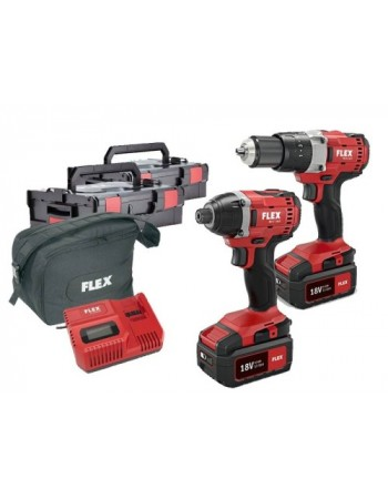 Flex 18 volt cordless twin pack 5.0 amp