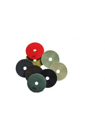 Flexible resin bonded velcro backed diamond polishing pads (Wet)