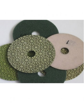 Hybrid Velcro Backed Diamond Polishing Pads (Set of 6)