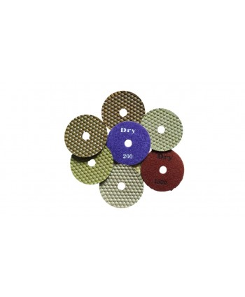Velcro Backed Dry Flexible Resin Bonded Diamond Polishing Pads